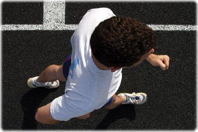 Race walking hips